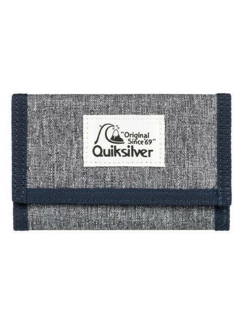 QUIKSILVER MENS WALLET.EVERYDAILY GREY TRIFOLD MONEY NOTE COIN CARD PURSE 9W XS